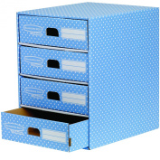 Fellowes Bankers Box 4 Drawer Unit - Blue/White
