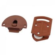 Wardrobe Sliding Door Roller Parts 3.6mm Dia Plastic Plate Package