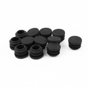 19mm Dia Plastic Round Cap Tube Pipe Inserts End Blanking 12Pcs