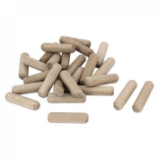 25 Pcs Furniture Cabinet Drawer Round Wooden Dowel Plugs 30mm x 8mm