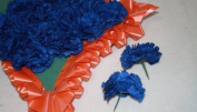 144 of ROYAL BLUE carnation picks artificial flowers wedding/funeral/buttonholes