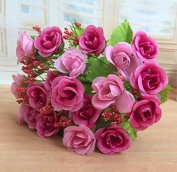 7 bouquet of 21 Heads pink artificial flowers artificial flowers wholesale silk flower corsage