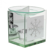 Holiday Forest Collection Oil Burner with Snowflake Design
