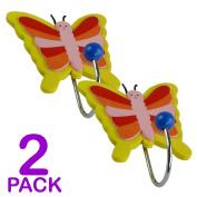 Childrens Butterfly Coat Hooks - Door Wall Hooks