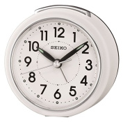 Seiko Alarm Clock Analogue Weiss Ear QHE125W