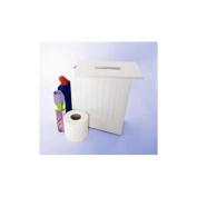 White Shaker Slimline Wooden Multipurpose Bathroom Storage Unit