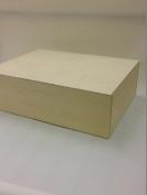 Unpainted Natural Wooden Box Souvenir A4 Size Memory Box Magazine Documents Storage Case