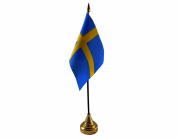 Sweden Hand Table or Waving Flag Country Swedish - No Base