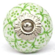 Knobbles and Bobbles Ltd White/Green Pretty Knob