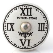 Knobbles and Bobbles Ltd Flat Roman Numerals Clock Knob