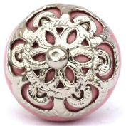 Knobbles and Bobbles Ltd Pink/Ornate Fitting Knob