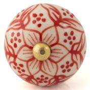 Knobbles and Bobbles Ltd White/Red Pretty Knob