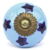 Knobbles and Bobbles Ltd Blue/Blue Stars Knob