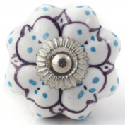 Knobbles and Bobbles Ltd White/Lilac/Green Pretty Knob