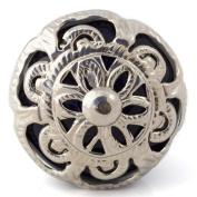 Knobbles and Bobbles Ltd Navy Blue/Ornate Fitting Knob