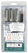 Sakura 50010 9-Piece Zentangle Clamshell Pencil Set