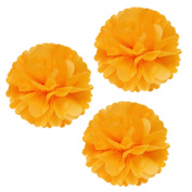 Allydrew 36cm Set of 3 Tissue Pom Poms Party Decorations for Weddings, Birthday Parties Baby Showers and Nursery Décor, Orange
