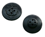 Black Military Anchor Style Navy Peacoat Pea Coat Jacket Coat Buttons, LOT / BAG of 25 Buttons