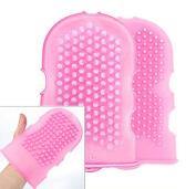 High Quality Silicone Massage Glove/cellulite Remover/ .  / Brush Glove Scrub /Pink