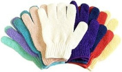 5 Pair Exfoliating Gloves - Bath & Shower Deep Scrub Cloth Gloves - Best Body Hydro Exfoliating Mitt Gloves for Soap & Body Wash - Helps With Skin Firming, Wrinkle, Scar, Cellulite & Stretch Mark Reduction By Removing Dead Skin Cells, Stimulating Circu ..