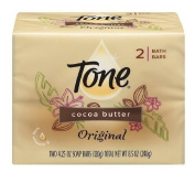 Tone Cocoa Butter Original Scent Two 130ml Bath Bars Soap