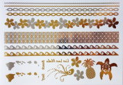 Gold & Silver Metallic Temporary Tattoos Hawaii By Divine Planet