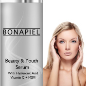 Hyaluronic Acid Serum - Works on Face and Neck - Contains Pure MSM, Vitamin C and Vitamin E - No Harmful Oils