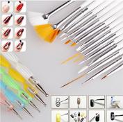 Goliton® 20pc Nail Art Design Painting Dotting Detailing Pen