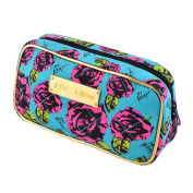 JUJU® Cosmetic Makeup Bag Blueload Purple Black Rose Woman Case Wallet Strap Stylus