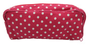 Essential Oil Bag Hot Pink White Dots Carrying Case For Oils Organiser