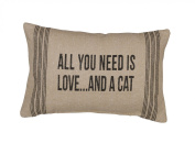 Primitives by Kathy And a Cat Dark Pillow, 25cm by 38cm