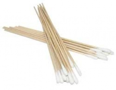 PKG (300) 15cm - 0.6cm Long Wooden Handled Cotton Tipped Swabs
