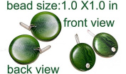 Laser Cut Tagua Beads for Earrings. Earrings Beads Component Pair.