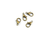 180 PCS Jewellery Making Charms TW076 Lobster Clasps Ancient Bronze Retro Findings Bulk