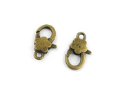 80 PCS Jewellery Making Charms PH091 Plum Lobster Clasps Ancient Bronze Retro Findings Bulk