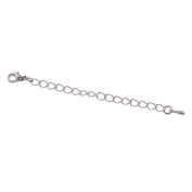 YDT Lobster Clasp Silver Plated Curb Chain 8.9cm for Jewellery Necklace Bracelet 20pcs