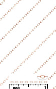14K Rose Gold Filled Bulk Flat Cable Chain Small Delicate 1.6x1.9 mm Size (No Clasp) Price Per Foot