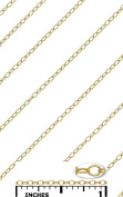 14K Gold Filled Small bulk chain 1.4x2.2 mm 29 gauge (0.28 mm)No Clasp Attached Price Per Foot