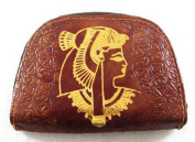 Cleopatra Egyptian HAND MADE Genuine Leather Handcrafted Wallet Purse Pharaoh