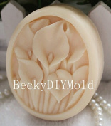 Creativemoldstore 1pcs 7.6x6.3x2.8cm Flowers (ZX14) Craft Art Silicone Soap Mould Craft Moulds DIY Handmade Soap Mould