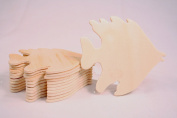 Creative Hobbies® Unfinished Wood Fish Cutout Shapes, Ready to Paint or Decorate, 8.9cm Wide, Pack of 12
