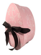Hudson Paper Co. Decorative Egg Shaped Gift Box Pink With Bunnies