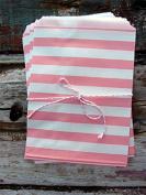 Pink Stripe Paper Treat Bags -