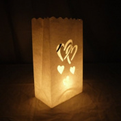 Double Heart Paper Luminaries Bag