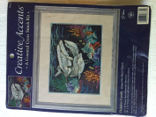 """Creative Accents Counted Cross Stitch """"Dolphin Family"""""""