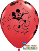 Mickey Mouse Non Message Red 28cm Qualatex Latex Balloons x 6