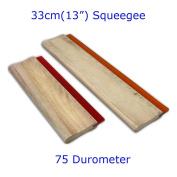 """33cm 13"""" Screen Printing Squeegee Wood Handle Blade Ink Scraper Rubber Tools"""