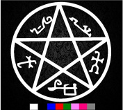 Supernatural Devils Trap Symbol Sigil Vinyl Sticker Decal Pentagram Anti Possession