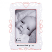 22cm H Girl Godchild Frame Holds 4X6 Photo by Roman