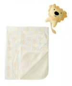 Chick Pea Printed Blanket with Plush Toy, Lion